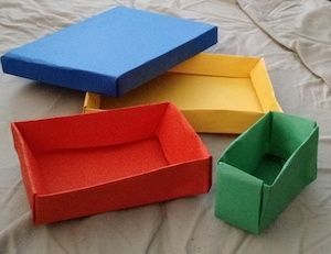 how to make a box out of paper